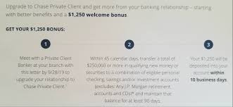 Upgrade To Chase Private Client, Get $1,250 Bonus (Targeted ... Bank Account Bonuses Promotions October 2019 Chase 500 Coupon For Checking Savings Business Accounts Ink Pferred Referabusiness Chasecom Success Big With Airbnb Experiences Deals We Like Upgrade To Private Client Get 1250 Bonus Targeted Amazoncom 300 Checking200 Thomas Land Magical Christmas Promotional Code Bass Pro How Open A Gobankingrates New Saving Account Coupon E Collegetotalpmiersapphire Capital 200 And Personalbusiness