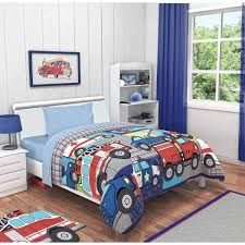 100 Fire Truck Bedding Amazoncom NT 4 Piece Boys Red Truck Toddler Blue