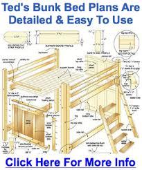 Loft Bed Woodworking Plans by Bunk Bed Plans Free Bed Plans Diy U0026 Blueprints