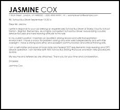 School Bus Driver Cover Letter Sample