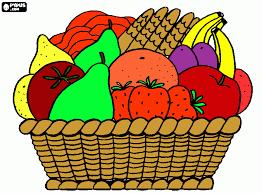 Fruit Basket Coloring Page Printable
