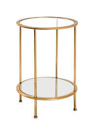haku beistelltisch gold maße ø 38 cm x 55 cm 20286