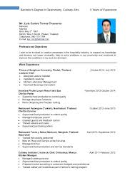 Hospitality Resume Objective Cover And Tourism