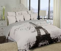 I Want This For MY Room Adult Elegant Paris Eiffel Tower Bedding Twin Full Queen Duvet Cover Or Comforter Combo Set White Grey