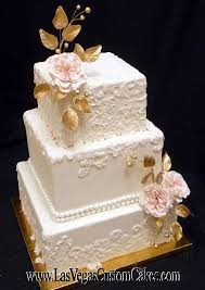 Gold And Lace Cake 430 By Las Vegas Custom Cakes