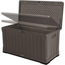 Suncast 50 Gallon Deck Boxstorage Bench by Lifetime Outdoor Storage Box 116 Gallon 60089 Walmart Com