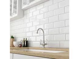 bevelled white gloss subway tile 75x150mm subway tiles