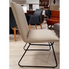esszimmerstuhl flair in beige und schwarzes gestell stuhl küchenstuhl kunstleder