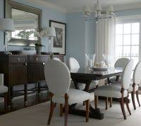 Beach Decor Ideas Dining Room Style With Table Lamps White Curtains