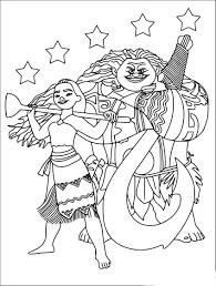 Coloriage Vaiana Et Maui À Imprimer Gratuit Pour Coloriage Vaiana Et