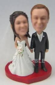29 Attractive Custom Bobblehead Wedding Cake Toppers