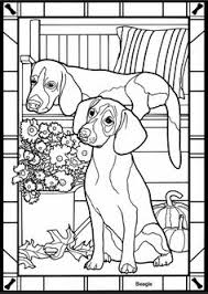 Dogs Stained Glass Coloring Book Dover Publications