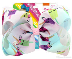 100 Where Is Dhgate Located 8 Large Ombre JoJo Bow With Hair Clip Unicorn Big Hair Bows For