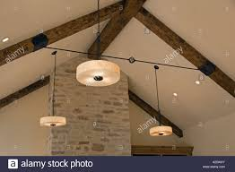 100 Contemporary Ceilings A Wrought Iron TURNBUCKLE And OPEN BEAM CEILING With