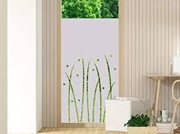 grazdesign klebefolie milchglasfolie streifen sichtschutzfolie fenster blickdicht für badezimmer küche wiese natur für wohnzimmer 70x80cm breite