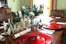 Dining Room Christmas Decorations Table Arrangements