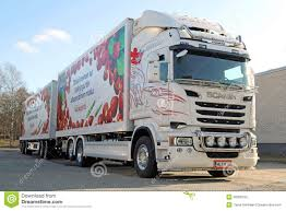 100 Scania Truck White And Full Trailer Editorial Image Image Of Fuel