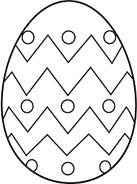 Blank Easter Egg Coloring Vintage Pages