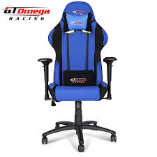 Tall Office Chairs Nz by Amazon Com Gt Omega Pro Racing Office Chair Blue And Black Fabric