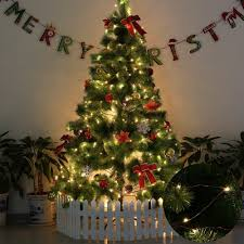 Type Of Christmas Trees Decorated In India by Amazon Com Le 100 Leds 33ft Copper Wire String Lights Warm White