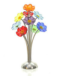 Handmade Glass Flower Bouquet For Delivery