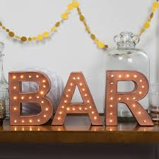 Letter Lights For Sale Light Up Marquee BAR Letters