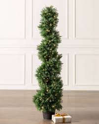 Pre Order Five 7 Foot Artificial Cedar Topiary Trees Potted Indoor