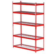 Edsal Metal Storage Cabinets by Edsal 72 In H X 48 In W X 18 In D5 Shelf Steel Storage Shelving