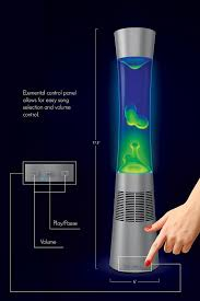 Blue Lava Lamp Spencers by Amazon Com Sharper Image Motion Lamp With Bluetooth Speaker 17 5