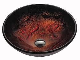 kraus lava glass vessel sink with drain mounting ring chrome