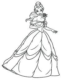 Princess Belle Printable Coloring Pages Disney Princesses Colouring Games Intended Full Size