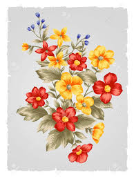Paintings Of Flowers Easy Flower Bouquet Bewitch Simple Bridesmaid