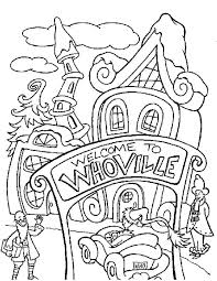 Coloring Page Christmas Village