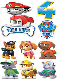 details zu paw patrol marshall characters images personalised icing edible cake topper
