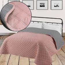 tagesdecke altrose grau 220cm x 200cm bett sofaüberwurf gesteppt und wattiert bettüberwurf bettdecken überdecken