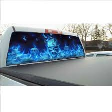 Senarai Harga Rear Window Flaming Skull Cool Sticker Rear Window ...