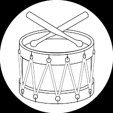 Coloring Pages O Toy Drum Printable Version
