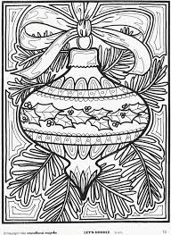 Excellent Design Ideas Christmas Ornament Coloring Pages Printable Page