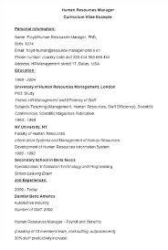 Sample Hr Resume India Human Resource Management Executive Within For