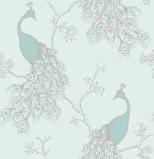 Image Is Loading New Fine Decor Empress Peacock Shabby Chic Wallpaper