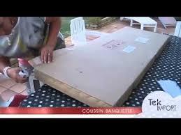 fabriquer coussin canapé coussin banquette 150x54cm tek import