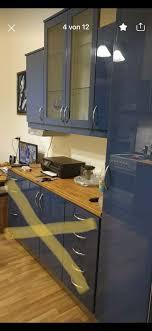 ikea faktum küchenschränke mit türen hochglanz blau