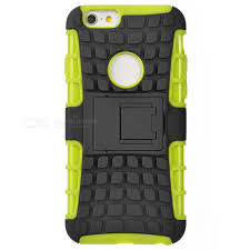 ABS Back Cover Armor Case w Stand for IPHONE 6S Green Black