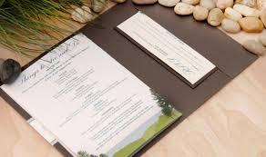 Rustic Maine Seaside Wedding Invitation Booklet