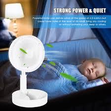 usb betriebener oszillationsventilator tragbarer elektrischer ventilator 180 drehbarer kopf leiser tischventilator mit ausziehbarem