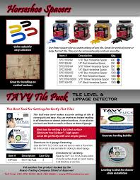 Leveling Spacers For Tile by Promotional Material U0026 Flyers Rtc Products