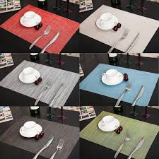 Adorable 45x30cm PVC Placemats Insulation Mats Tables Coasters Kitchen  Table Quick-Dry