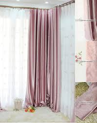 Light pink blackout curtains with leaf patterns are elegant