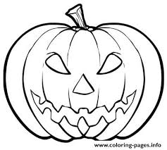 Kid Scary Halloween Pumpkin S7dd9 Coloring Pages
