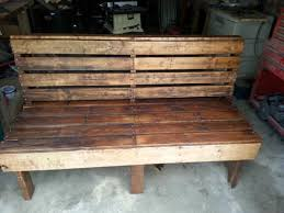 DIY Large Rustic Pallet Bench For Outside Via 1001pallets